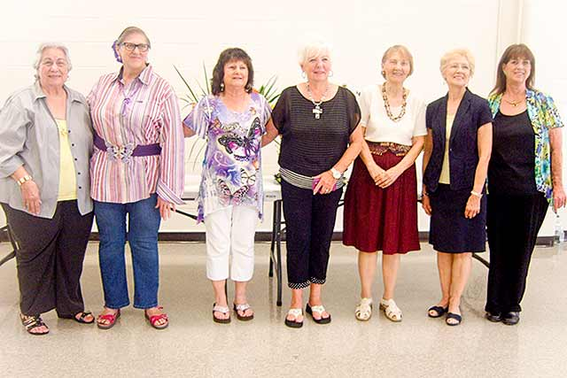 Winners of the Second Annual Coldspring Garden Club Flower Show & Luncheon were Rita Hokansan, Pat Blaike, Gayle Currie, Carol Cornell, Delores Catney, Christine Knight and Gayle Erwin.